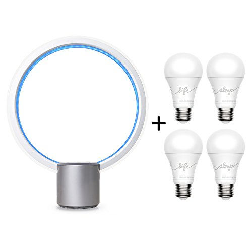 C by GE Sol + C-Sleep + C-Life Starter Kit (Smart LED Light Fixture and 2 C-Sleep + 2 C-Life Smart LED Light Bulbs) by GE Lighting, works with Amazon Alexa by