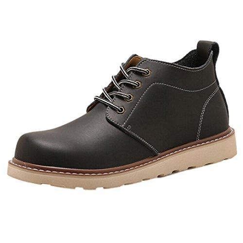 Amlaiworld Zapatillas De Hombre Zapatos de vestir Hombres Zapatos con cordones Para hombre Botas Zapatos de hombre (Negro, EU43 /CN 44): Amazon.es: ...