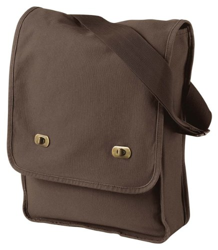 Authentic Pigment-Dyed Canvas Field Bag, JAVA, One Size ()