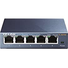 TP-Link 5 Port Gigabit Ethernet Network Switch | Ethernet Splitter | Sturdy Metal w/Shielded Ports | Life Time Warranty| Plug-and-Play | Traffic Optimization | Unmanaged (TL-SG105)