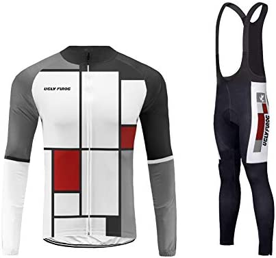 Uglyfrog Diversión Pintura a Cuadros Ciclismo Maillot Invierno Fleece Hombres Jersey + Pantalones Largos Culote Mangas Largas Conjunto Ropa Entretiempo para Deportes al Aire Libre Ciclo Bicicleta: Amazon.es: Deportes y aire libre