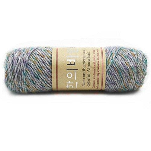 Celine lin One Skein Thick Warm Alpaca Wool Mink Cashmere Knitting Yarn ()