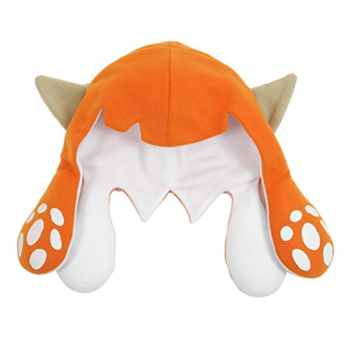 - Xiao Maomi Splatoon Cute Cap Game Squid Hat for Kids Adults Cosplay Costume Accessories (Large, Orange(Short))