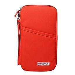 Multi-function Travel Passport Holder Credit Id Card Stash Organizer Case Bag P