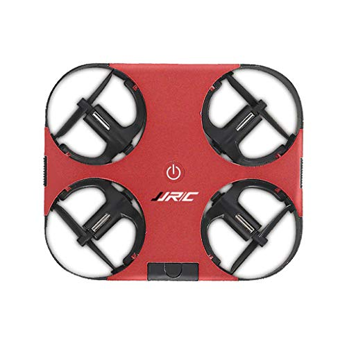 JinJin Ultra-light RC Quadcopter drone Foldable Mini Drone for Kids and Beginners, Ultra-Light RC Nano Quadcopter Indoor Outdoor Small Helicopter Plane (Red)