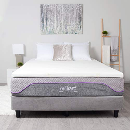 Milliard Gel Memory Foam Mattress Topper - 2 Inches Thick with Premium 2.5 Pound Density and a Top-Quality Cover That