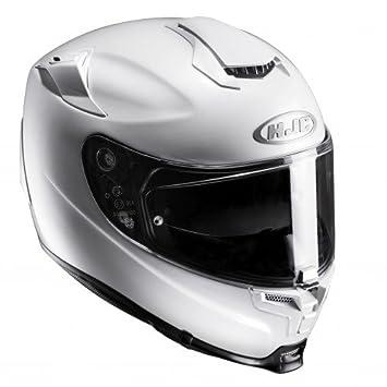 HJC 14302907 Casco de Moto, Blanco Perlado, Talla S