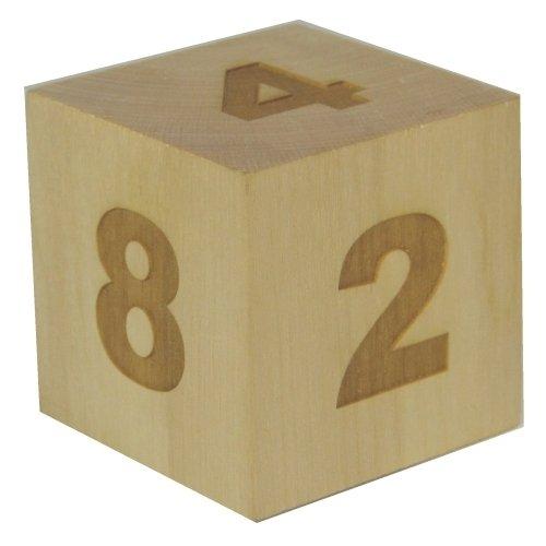 (Gigantic Wooden 2 Inch (51mm) Laser Engraved Maple Backgammon Doubling Cube (Doubler) )