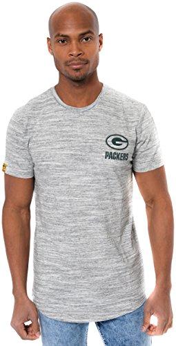 (NFL Green Bay Packers Men's T-Shirt Active Basic Space Dye Tee Shirt, Medium, Gray)
