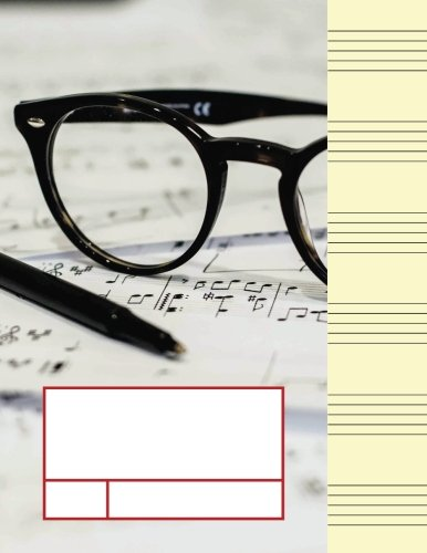 Music Manuscript Wide Staff For Seniors: Adult Blank Sheet Music Manuscript Paper Notebook For Elder Musician, Songwriter, Composer, Or Musical ... Chord Notation Lesson Memo) (Volume 1)