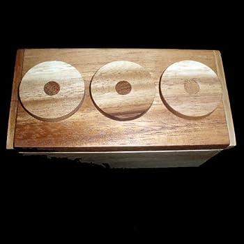Amazon Com Secret Lock Box Wood Brain Teaser Puzzle