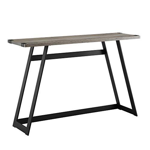 WE Furniture AZF46MWETGW Entryway Table, 46 , Grey Wash