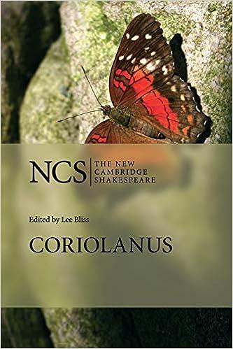 coriolanus the new cambridge shakespeare