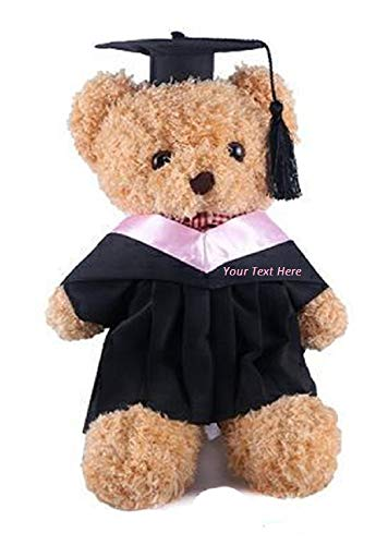 Personalized Custom Text Embroidered Fuzzy Plush Graduation Bear Plush Teddy Bear 15