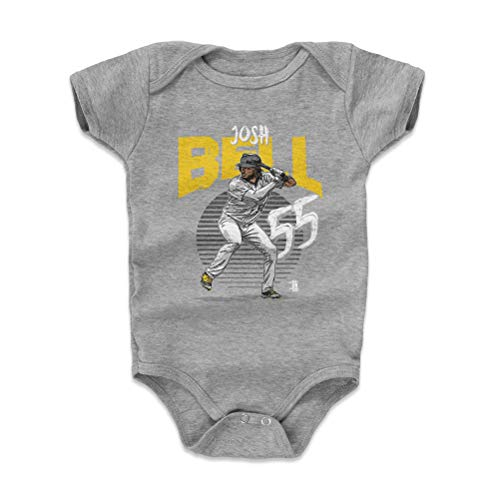 (500 LEVEL Pittsburgh Baseball Baby Clothes, Onesie, Creeper, Bodysuit - 3-6 Months Heather Gray - Josh Bell Rise Y WHT)