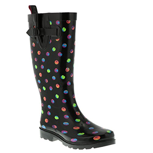 Printed Capelli Boot Dots Combo Black Rubber New Tall Rain Ladies York IZIwPqaO