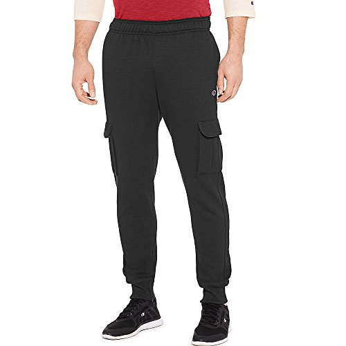 Champion Men's Powerblend Fleece Jogger Pant, Black, Large