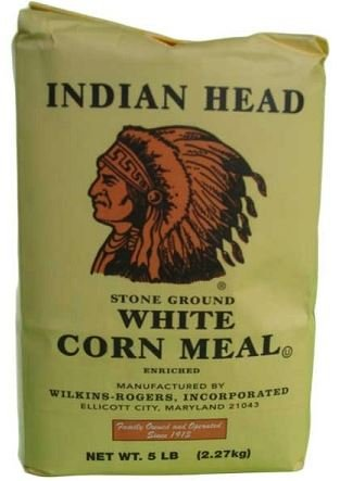 Indian Head Corn Meal Stone Ground White 5lb (Indians Head)