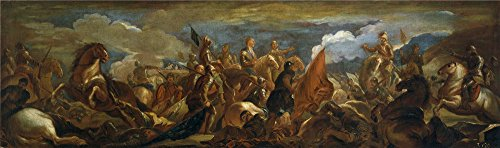 'Giordano Luca Prision Del Condestable De Montmorency En La Batalla De San Quintin (II) 1692 93 ' Oil Painting, 8 X 27 Inch / 20 X 69 Cm ,printed On Perfect Effect Canvas ,this Vivid Art Decorative Canvas Prints Is Perfectly Suitalbe For Basement Decoration And Home Decoration And Gifts ()