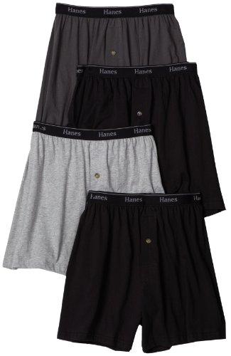 Hanes Men's Classics Comfort Soft Waistband  Knit Boxer Underwear (Pack of 4)