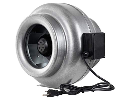 (iPower 12 Inch 1060 CFM Inline Duct Ventilation Fan HVAC Exhaust Blower for Grow Tent, Grounded Power Cord)