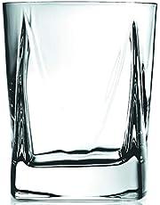 Luigi Bormioli Alfieri DOF 345ml, Durable Cocktail Glass, Lead Free Crystal Whisky Tumbler, Italian Drinking Glasses (Colour: Clear), Quantity: 1 Set, 4 Pieces