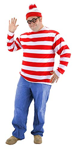 elope Where's Waldo Adult XX-Large Costume ()
