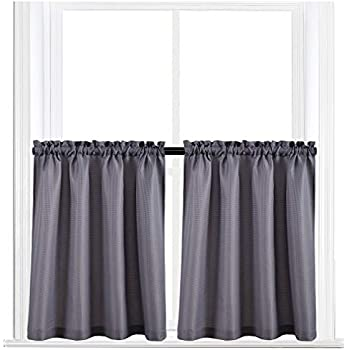 Amazon Com Kitchen Curtains 36 Inches Long Semi Sheer