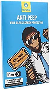 Anti-peep full glass screen protector 3D anti-broken edge for iphone X/XS From Blueo