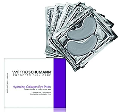 WILMA SCHUMANN Hydrating Collagen Eye Pads - 100% Pure & Natural Collagen Moisturizing Masks will Visibly Reduce Puffy Eyes, Fine Lines, Dark Circles and Wrinkles (Pack of 5 Pairs)…