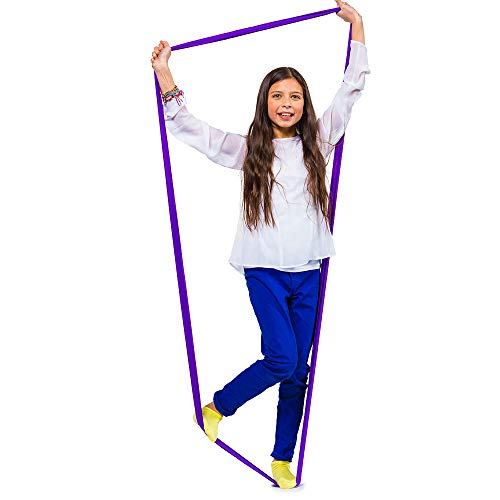 Sensory Activities Stimulation (Stretch Bands for Resistance Exercise and Sensory Stimulation – For Playtime and Study Breaks – Purple, Ages 5+)