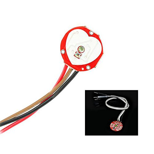Asiawill Pulsesensor Pulse Heart Rate Sensor Module for Arduino - Red