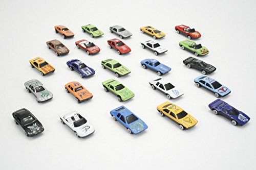 Rhode Island Novelty Turbo Racer Die Cast Car Set, 25-Piece (Fleet Box Set)