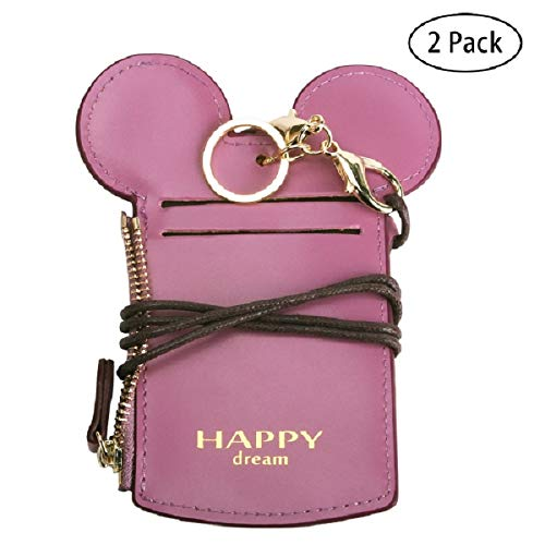 (Neck Pouch - Travel Neck Wallet Purse Card Holder Anti-Theft Wallet For Student Women Kids Girl (Purple 2))