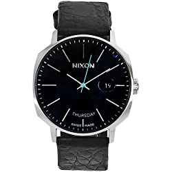 Nixon Men's A126-000 Regent Automatic Black Leather Band Watch