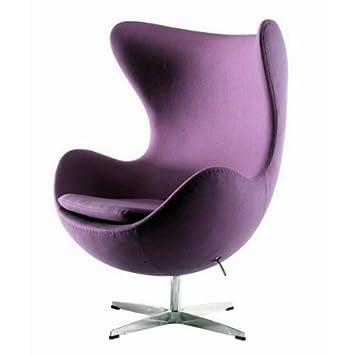 BCT UKA073P-Luxurious Arne Jacobsen style Egg chair Purple cashmere Wool fabric  sc 1 st  Amazon UK & BCT UKA073P-Luxurious Arne Jacobsen style Egg chair Purple cashmere ...