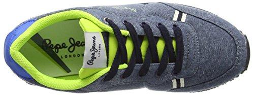 Pepe Jeans London Jungen Sydney Canvas Sneaker Blau (572FORCES)