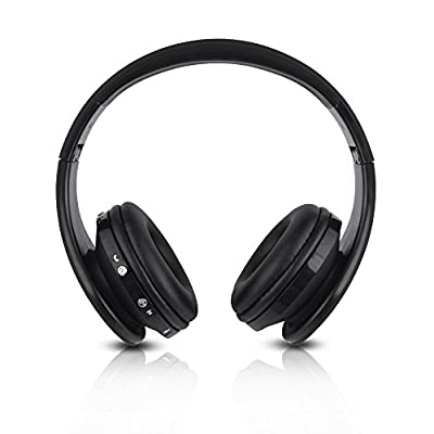 FX-Victoria Over Ear Headphone, for Bluetooth Wireless Headphones, Stereo Foldable Headset with Built in Microphone and Volume Control, On Ear Stereo Wireless Headset, Black