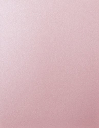 Rose Pink Shimmery Metallic Cardstock, 8 1/2 x 11 (50 Sheets) from Paper and More