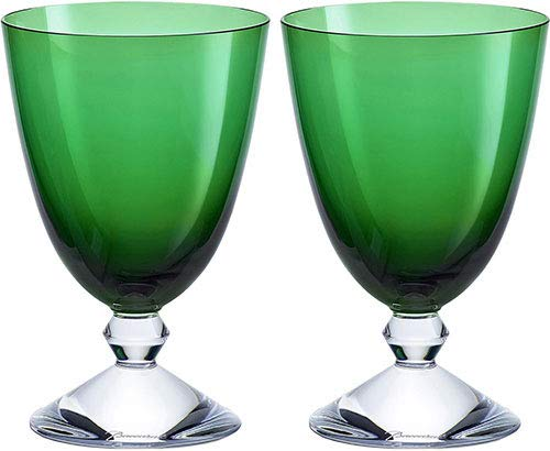 Baccarat Crystal Vega Small Water Glass - Green - Set of 2