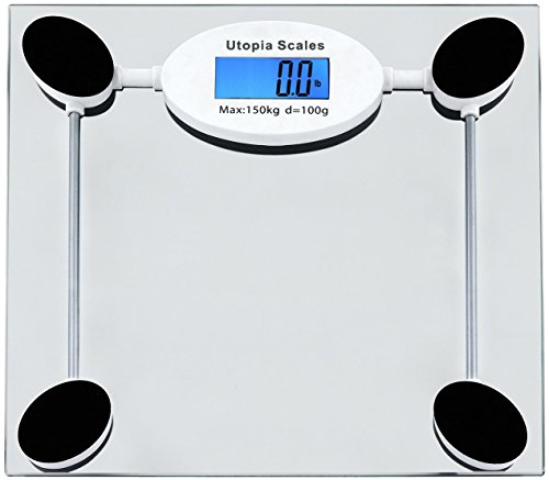 Clear Digital Glass Bathroom Scale with Thick Tempered Glass - by Utopia Home