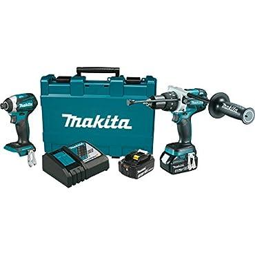 Makita XT268M 18V 4.0 Ah LXT Cordless Lithium-Ion Hammer Drill and Impact Driver Combo Kit