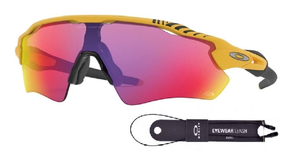 Oakley Radar EV Path OO9208 920876 38M Matte Yellow/Prizm Road Sunglasses For Men+BUNDLE with Oakley Accessory Leash Kit by Oakley