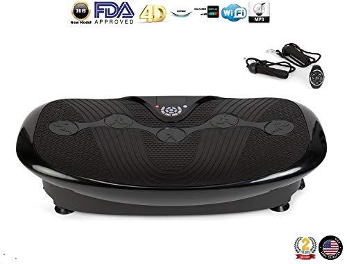 GLOBAL RELAX Zen Shaper Plus Vibration Plate – Black (2020 New Model) – Fitness oscillating Vibration Platform – MP3…