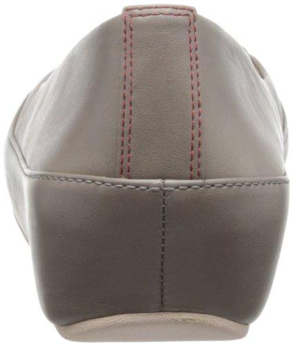 Beige Donna FitFlop Due Leather Ballerine Mink 6wHIz