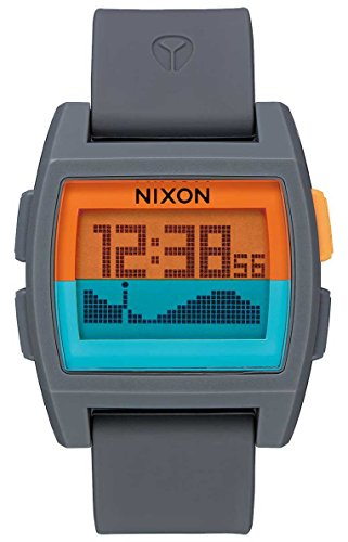 Nixon Base Tide Watch - Grey / Orange / Teal by NIXON