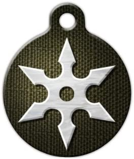 Amazon.com : Dog Tag Art Ninja Star Pet ID Tag for Dogs and ...
