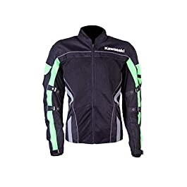 KAWASAKI GENUINE ACCESSORIES Textile MESH Jacket Black/Green