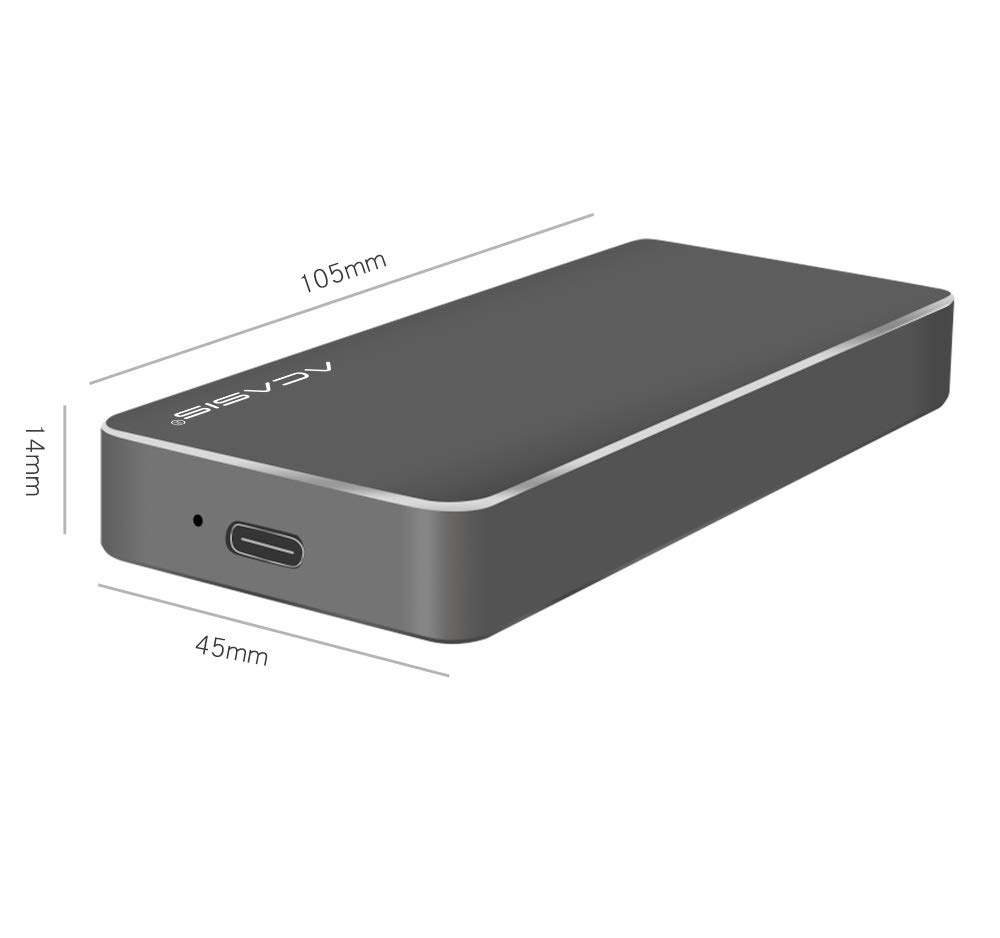 NVMe Enclosure PCIe M.2 2280 SSD Box,Type-C USB 3.1 NVME Solid State Hard Disk Case,HDD Enclosure