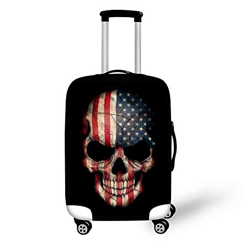 FOR U DESIGNS Skull Travel Luggage Protector Suitcase Cover Spandex Baggage Case Size L (Skull Design Cover Case)